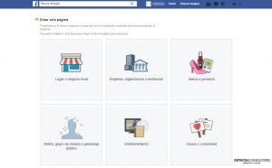 Crear fan page en facebook